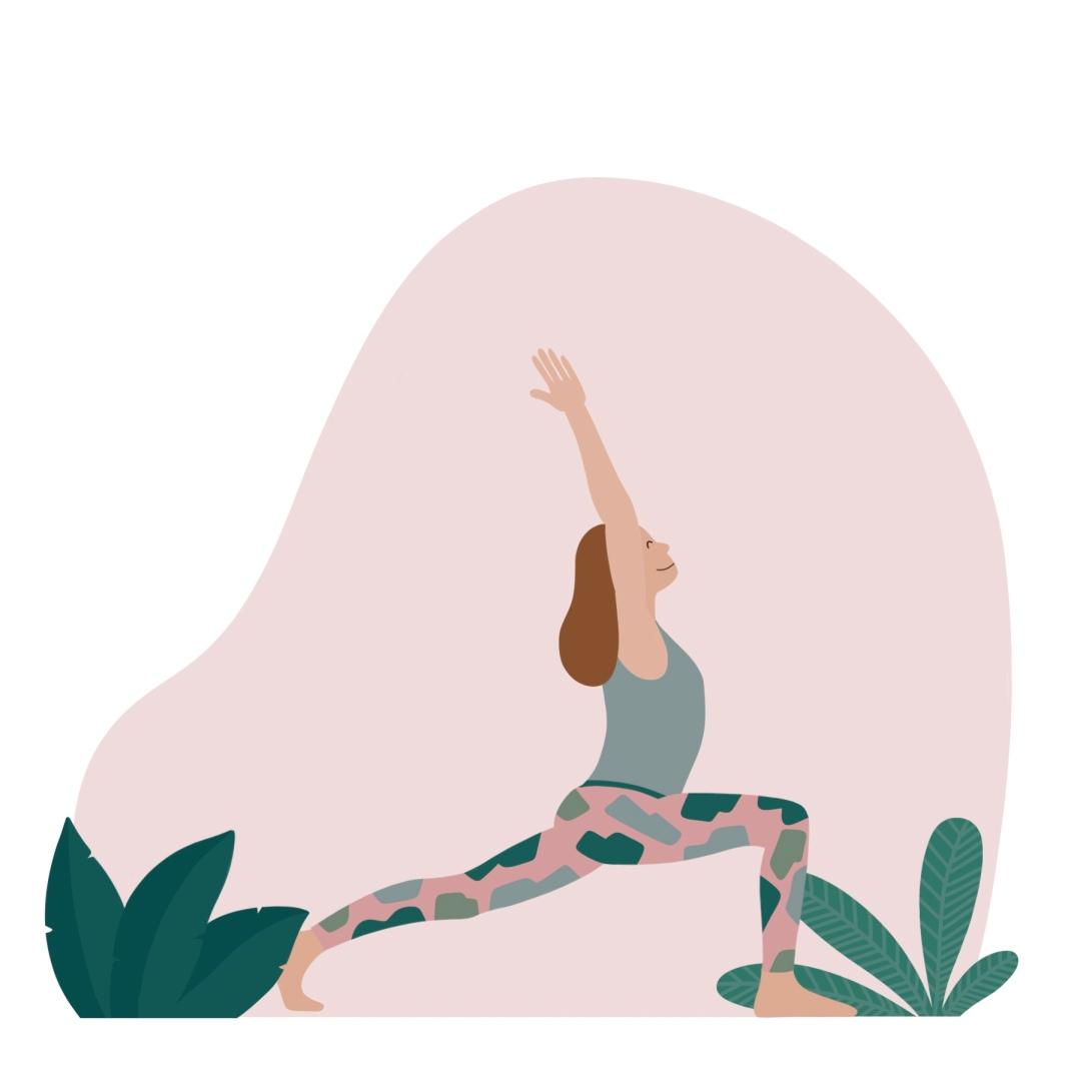 Yogahouding De Krijger