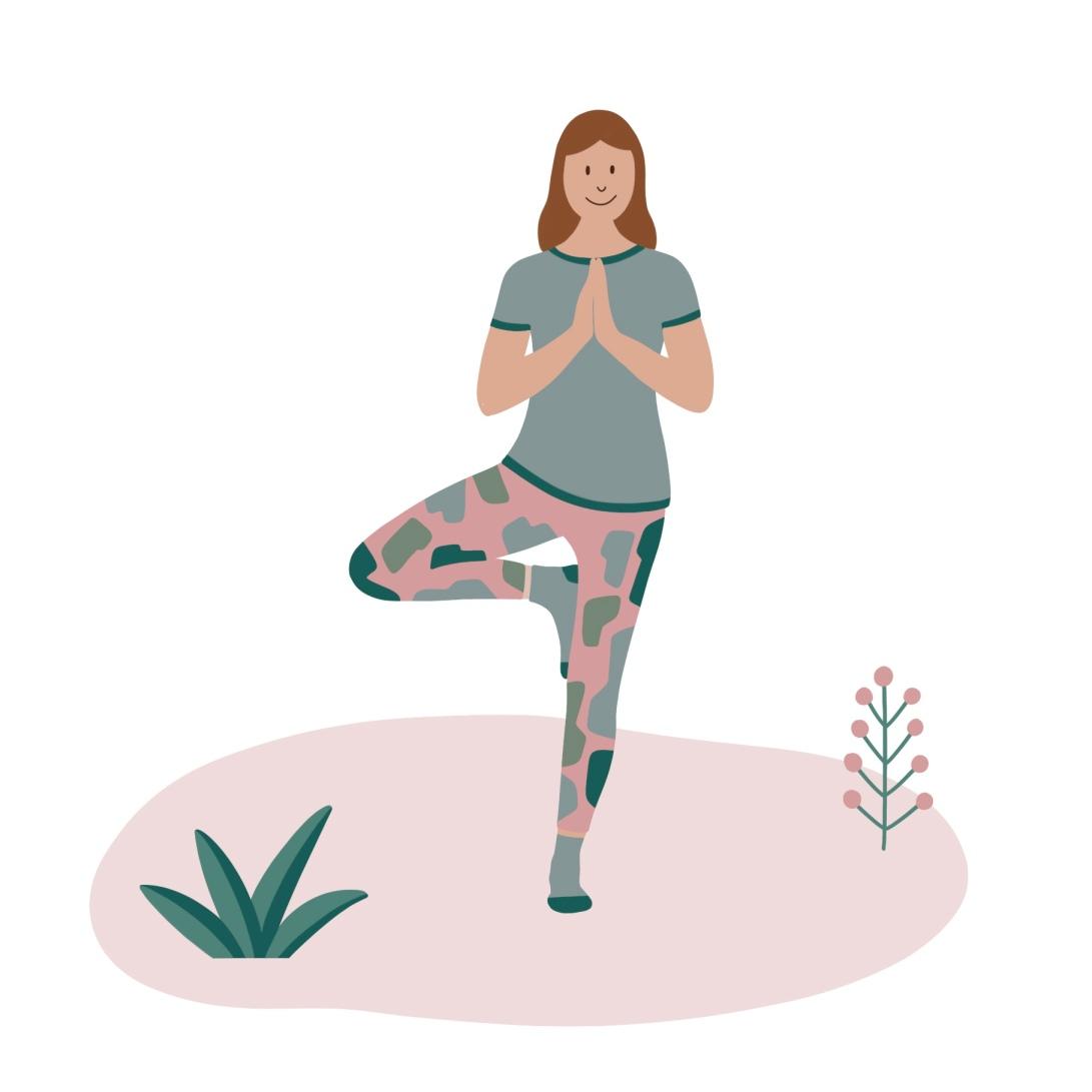 Yogahouding De boom